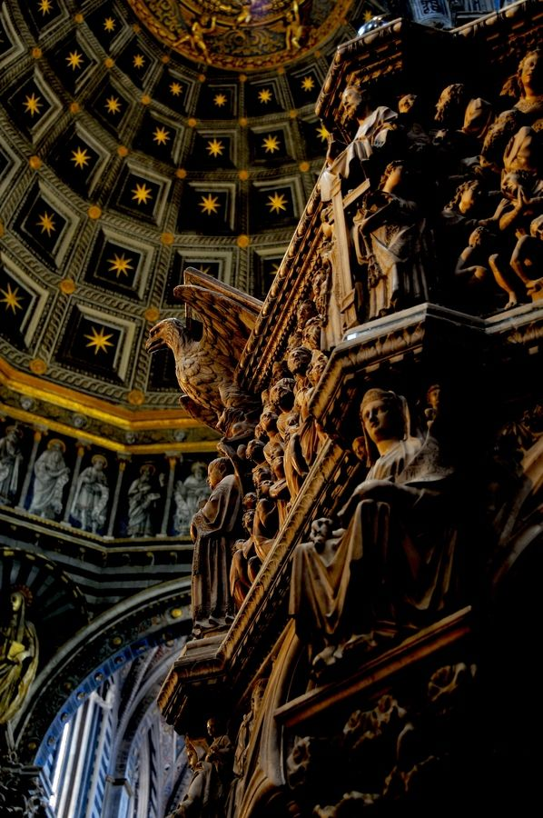 Inside Siena Cathedral, Siena, Italy a Tuscany