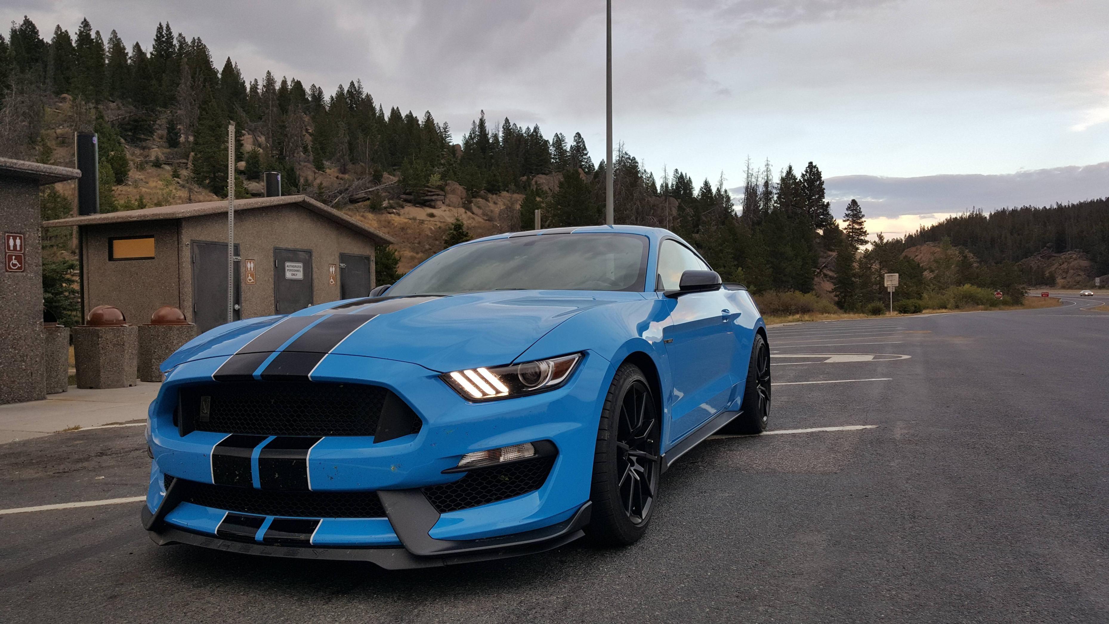 Grabber Blue Mustang >> 2017 Shelby Gt350 Grabber Blue With Black Stripes Cars Ford