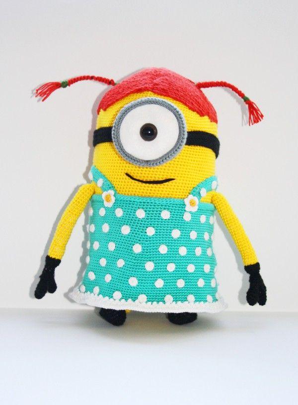 Häkelanleitung - Minion Mädchen | crochet | Pinterest | Minion ...