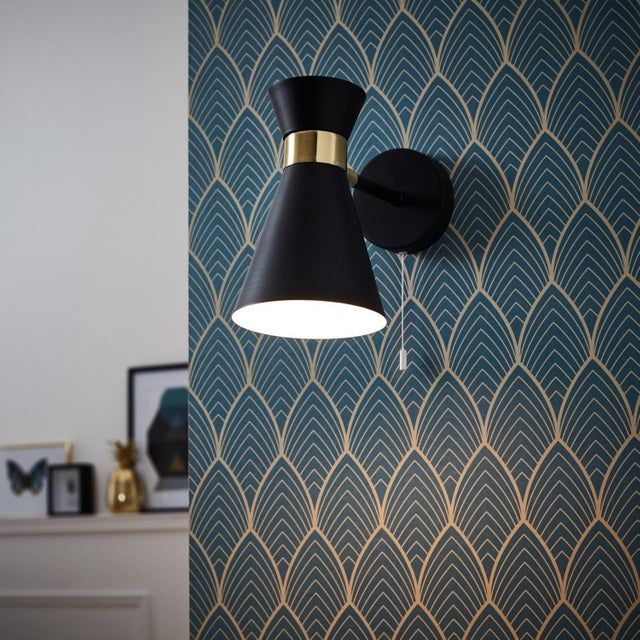 Applique, design e14 Goldy métal noir, 1 BRILLIANT