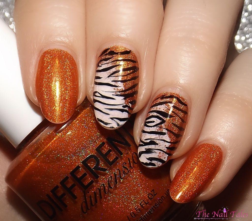 Super cute tiger striped nails fun nail designs pinterest super cute tiger striped nails prinsesfo Choice Image