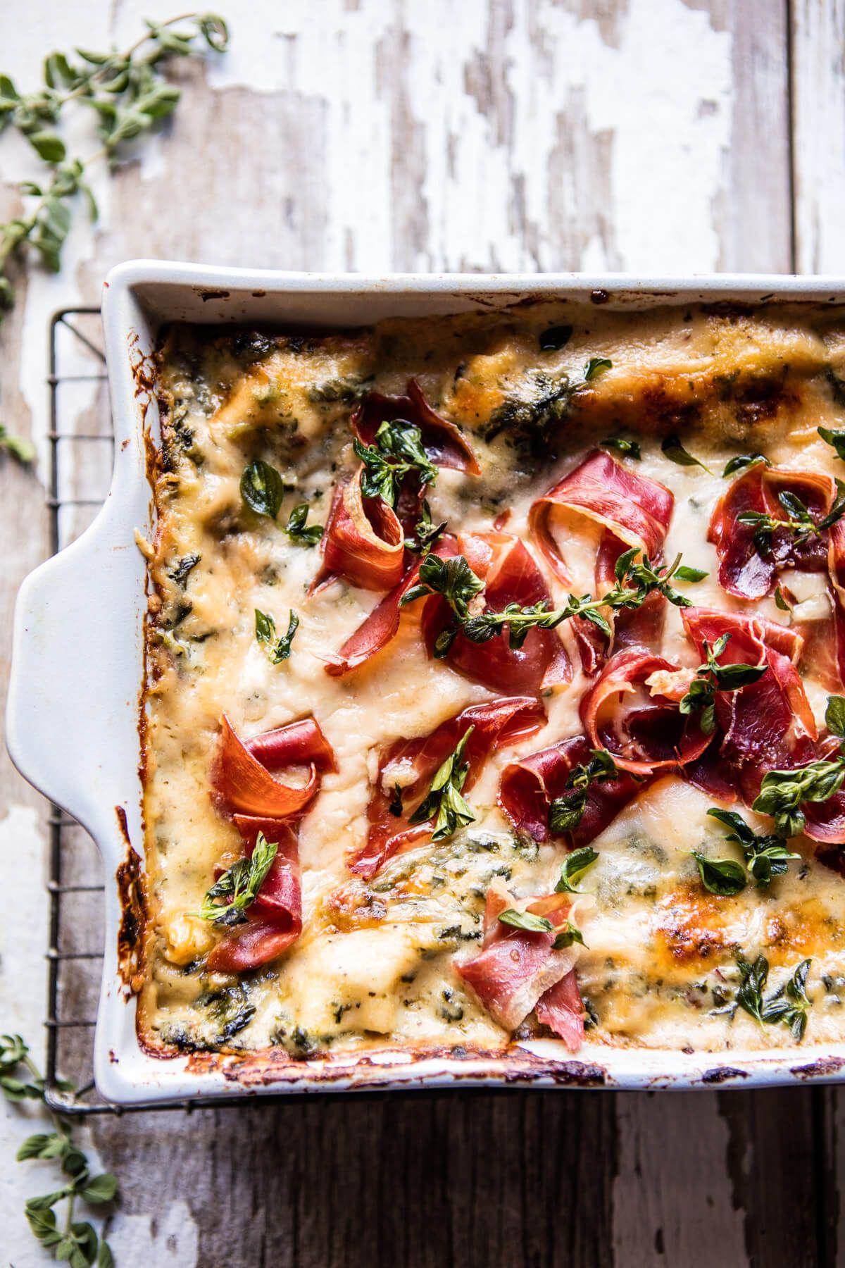 Crispy Prosciutto White Lasagna   Recipe   Italian christmas dinner, Christmas eve dinner menu, Food