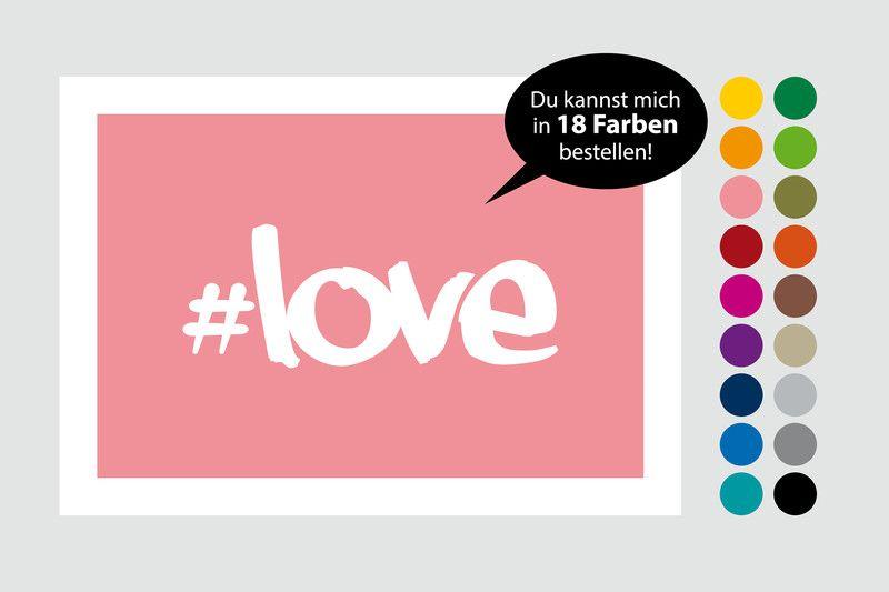 "Print ""#love"" 20 x 30 cm in 18 Farben von Frau B. - PapeterieSHOP auf DaWanda.com"