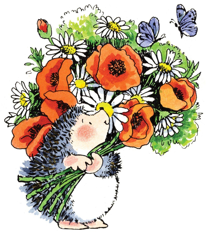 смешные цветочки рисунок книге поверхностно
