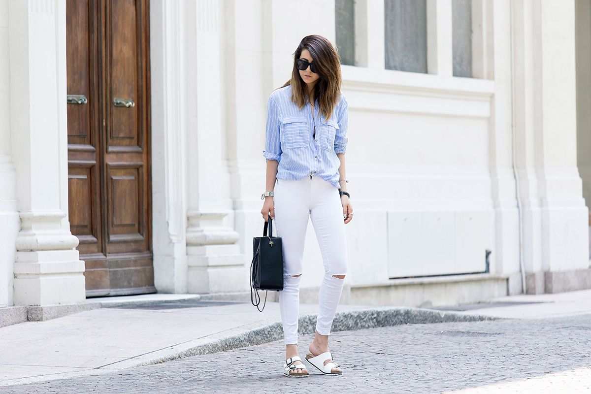 WHITE PANTS - OUTFIT SUMMER 2015 FASHION BLOGGER