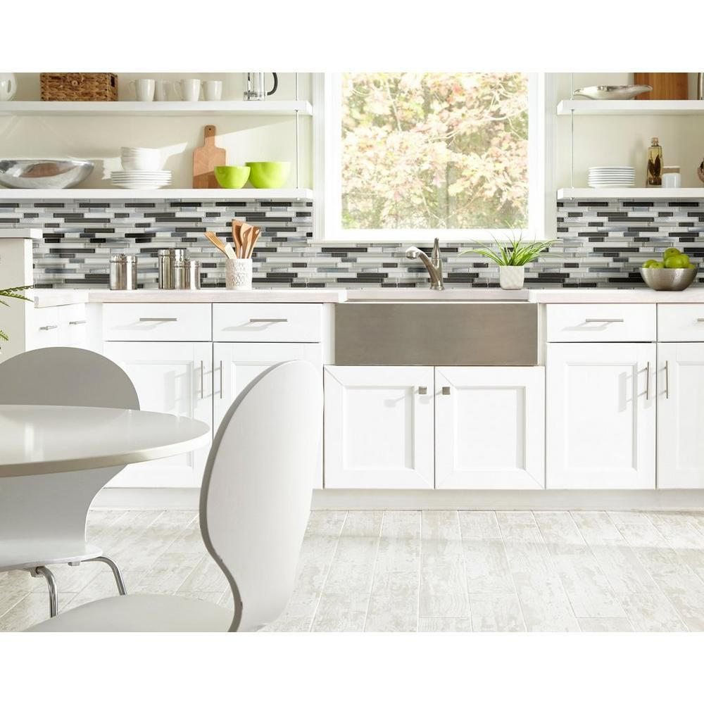 Decorative Backsplash Tile Prepossessing Montage Cascades Polished Linear Glass And Metal Mosaic  Tile Inspiration