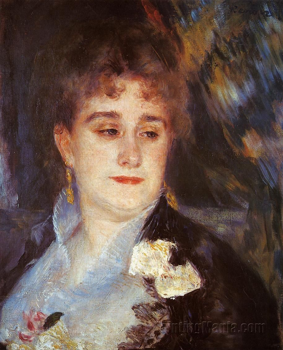 First Portrait of Madame Georges Charpeitier by Pierre-Auguste Renoir 1876-1877