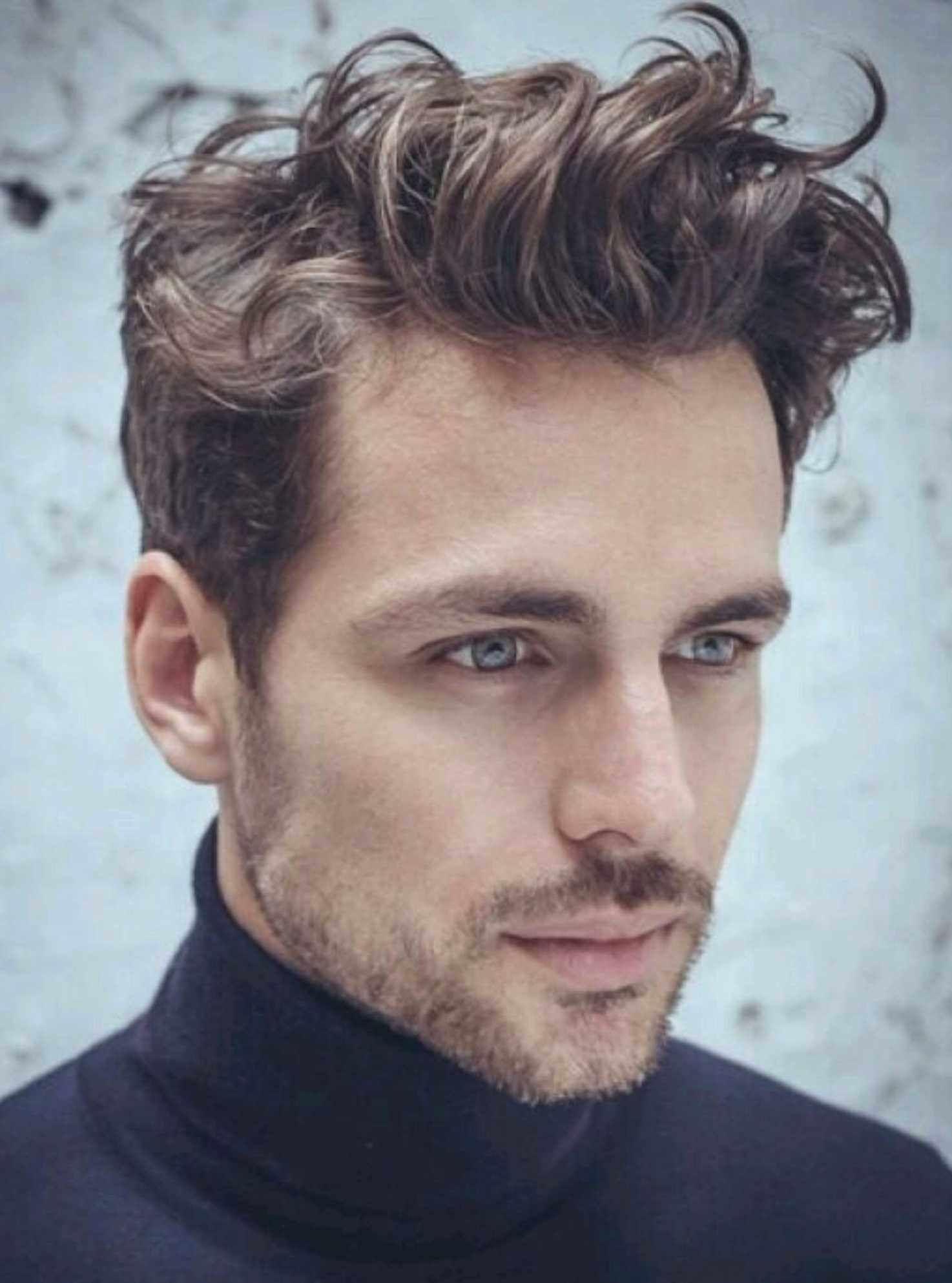 Hairstyles For Medium Hair Guys Retro  Medium hair styles, Mens