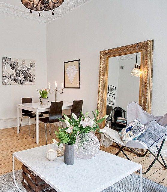 Miroir Ancien XL Home Revisited - Vibe Pinterest Salons
