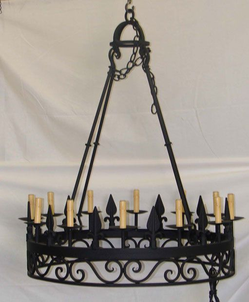 Acorn chandelier chandeliers pinterest iron chandeliers the acorn mission style chandelier is a stunning round iron chandelier featuring classic scrollwork santa barbara style chandelier aloadofball Images