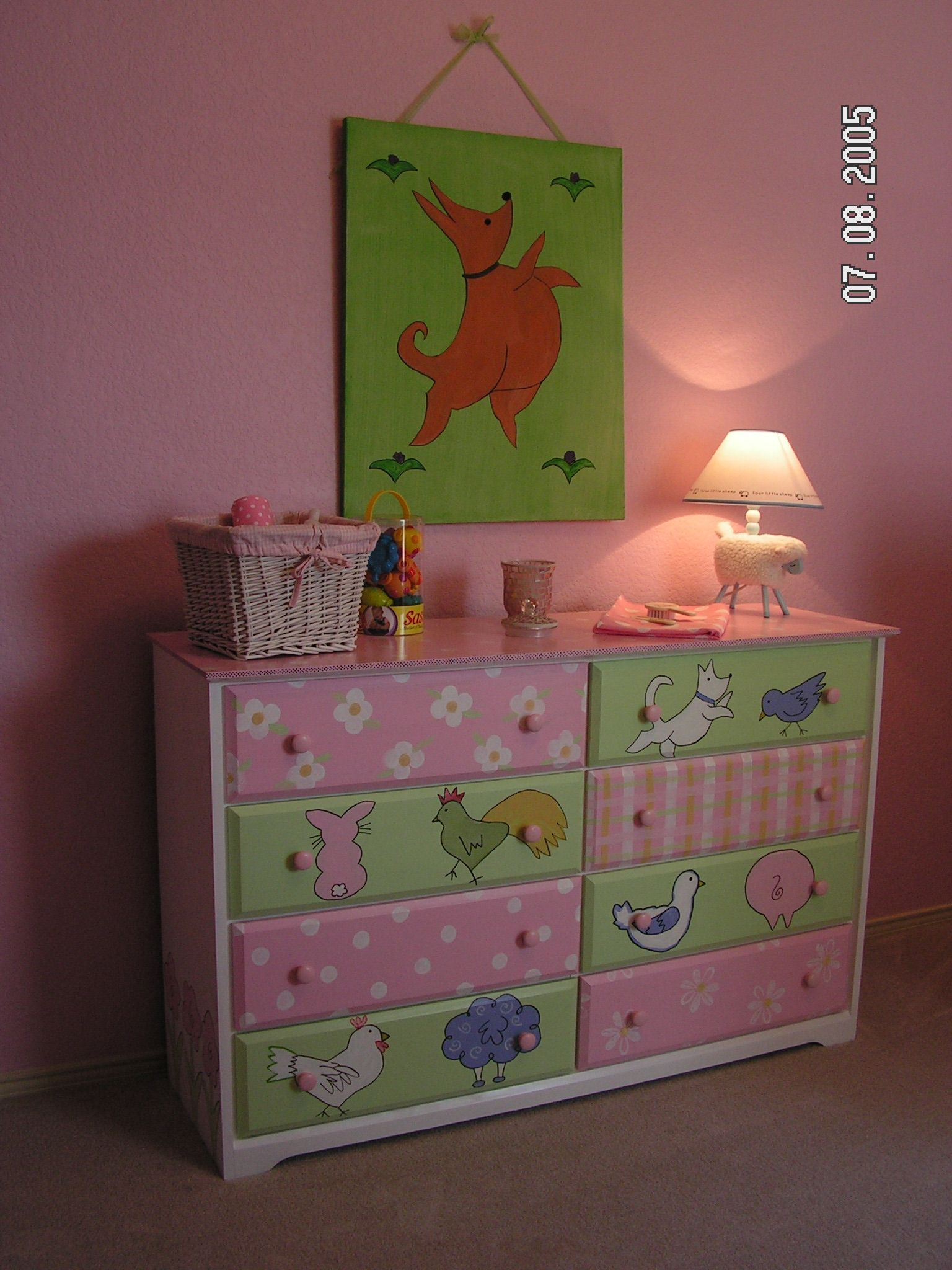 Furniture Custom Children Furniture Hand Painted Baby Girl
