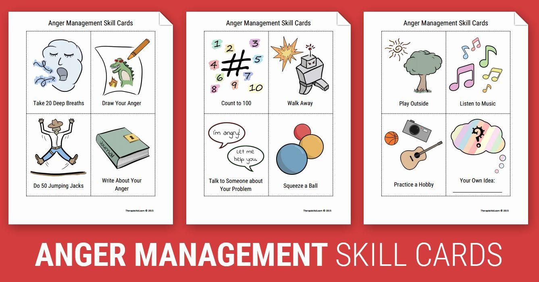 Anger Management Worksheet For Teens Elegant Anger Management Skill Cards Worksheet Anger Management Skills Anger Management Worksheets Anger Management Anger management skills worksheets