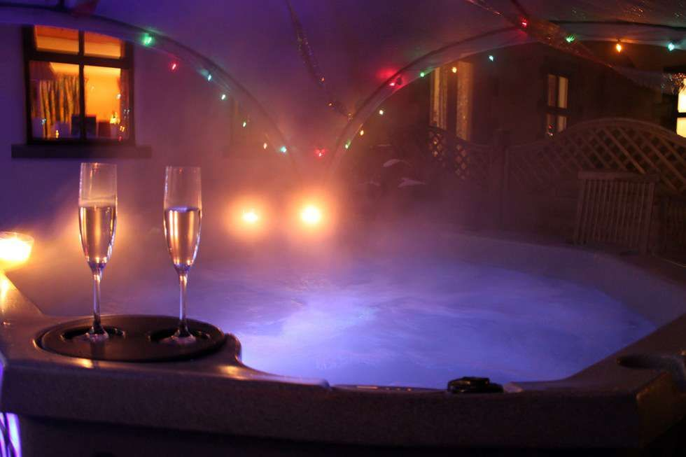 If You Can T Get Away Then Make Your Own Romantic Hot Tub Evening In At Home Hot Tub Wedding Night Bridal Swimwear