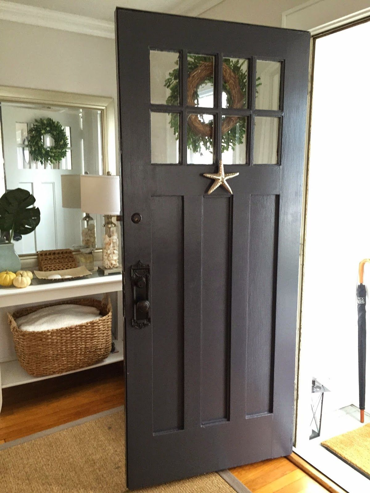 Marcie Reid Designs | coastal front door | paint color is Abyss by Benjamin Moore | & Marcie Reid Designs | coastal front door | paint color is Abyss by ... Pezcame.Com