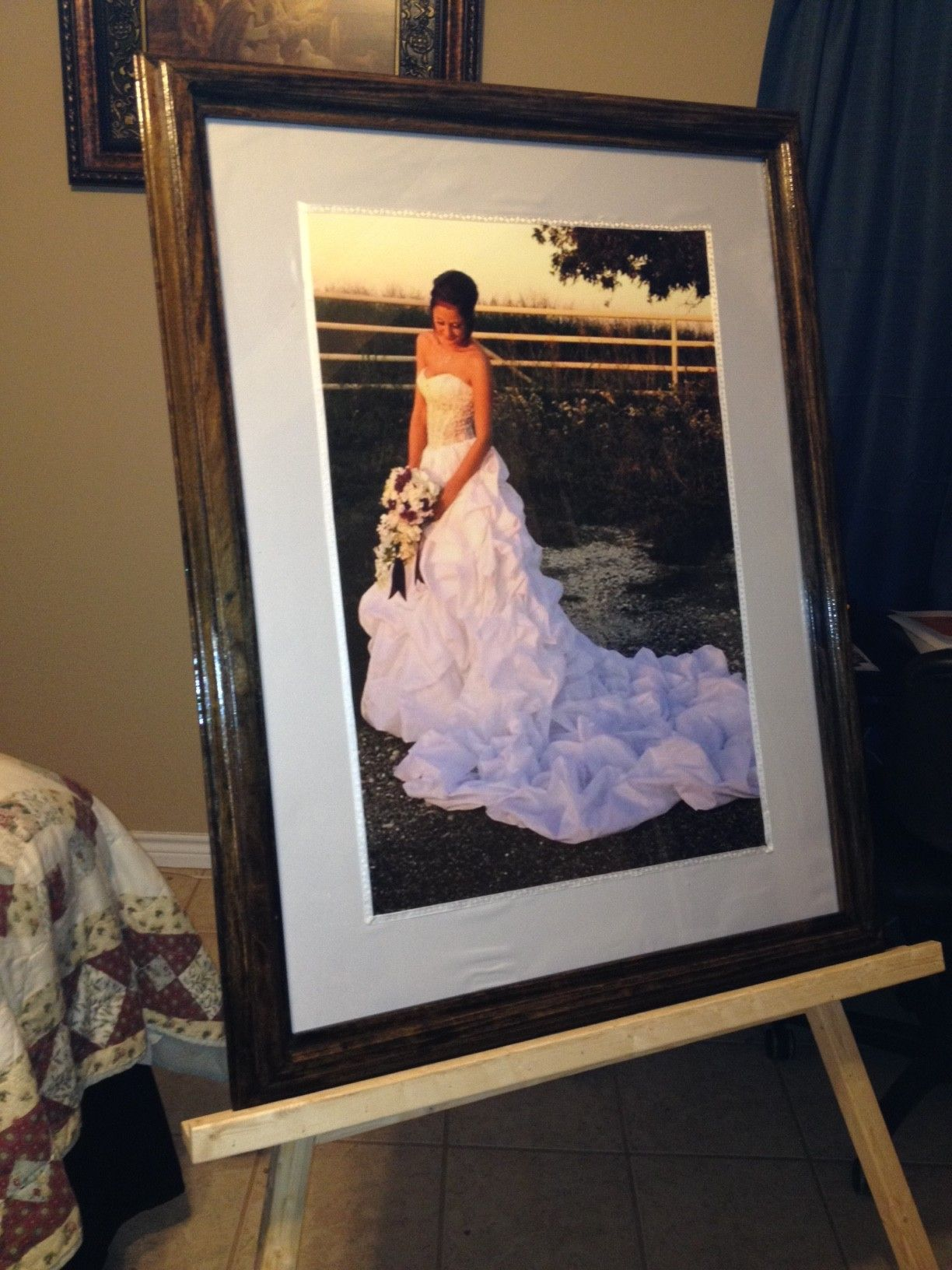 This One Was Enlarged To A 20x30 Poster Size Surrounded By White Satin Matte And Framed In Solid Poplar Heavy Frame