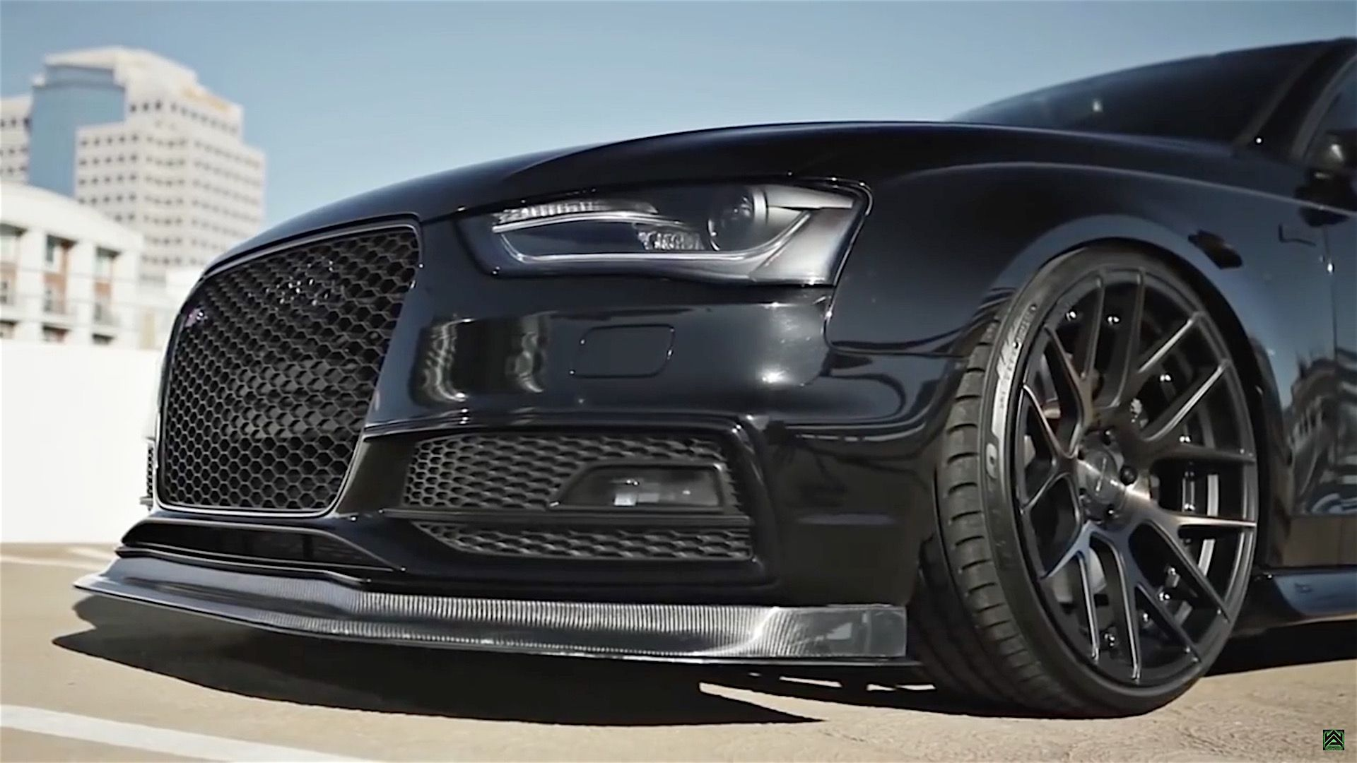 Audi s4 with armytrix exhaust system and stance