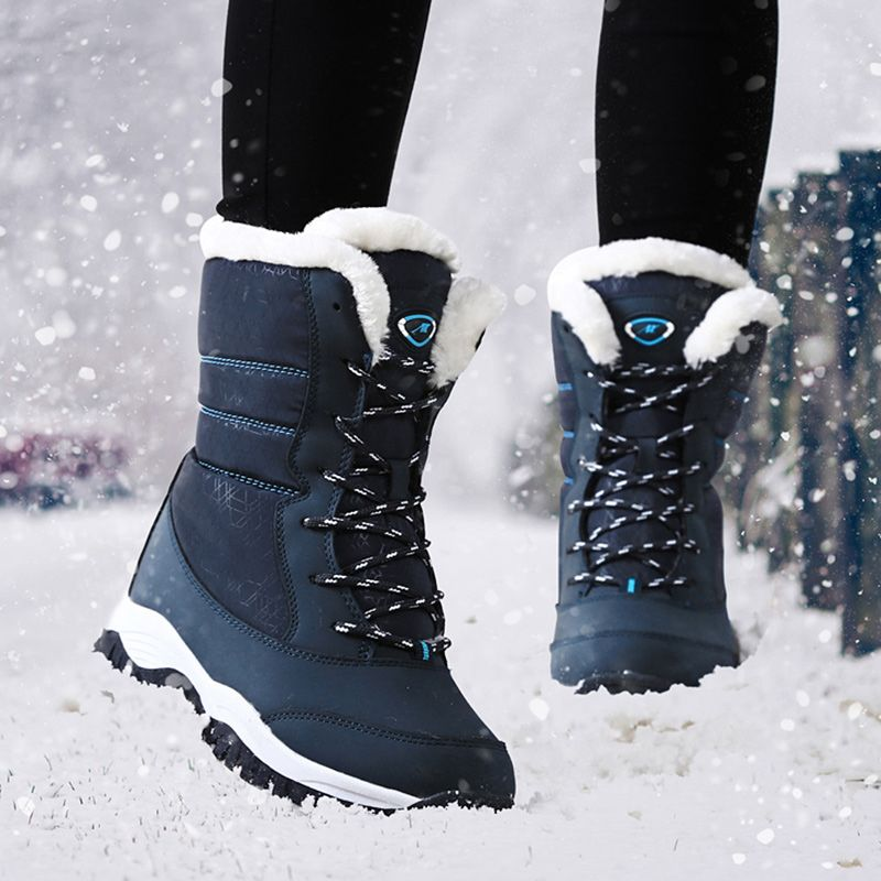 3294bf877305 Women Boots Waterproof Winter Shoes Women Snow Boots Platform Keep