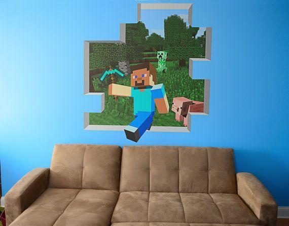 Custom huge minecraft mural 48 tall 2 minecraft by wilsongraphics 4petzi pinterest - Minecraft schlafzimmer ...