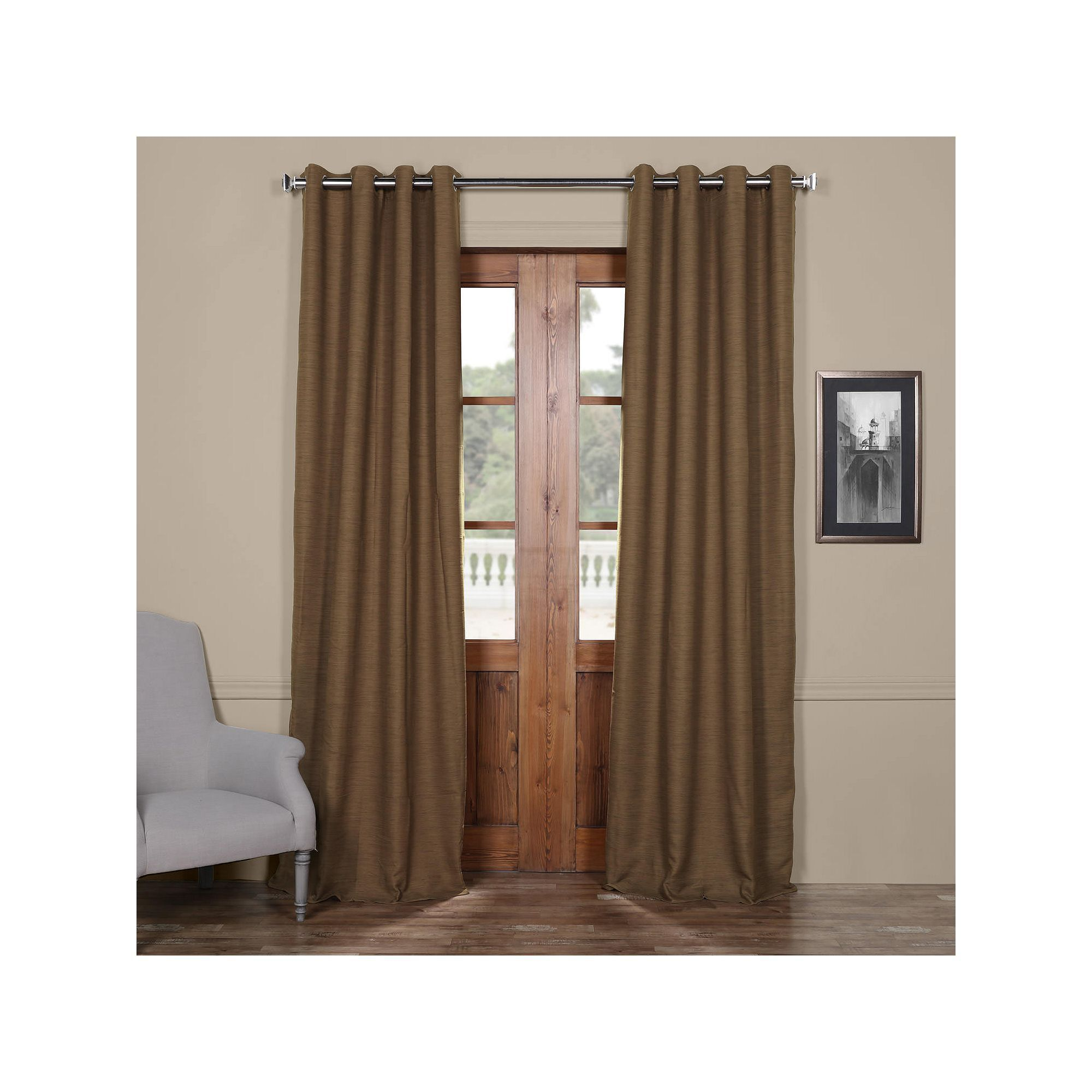 brown blackout curtains. EFF Bellino Blackout Window Curtain Brown Curtains