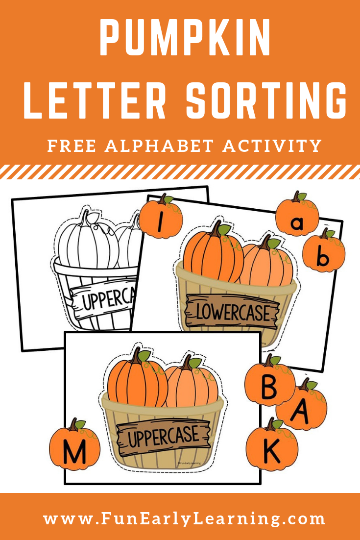 Pumpkin Letter Sorting Activity For Uppercase And Lowercase Letters