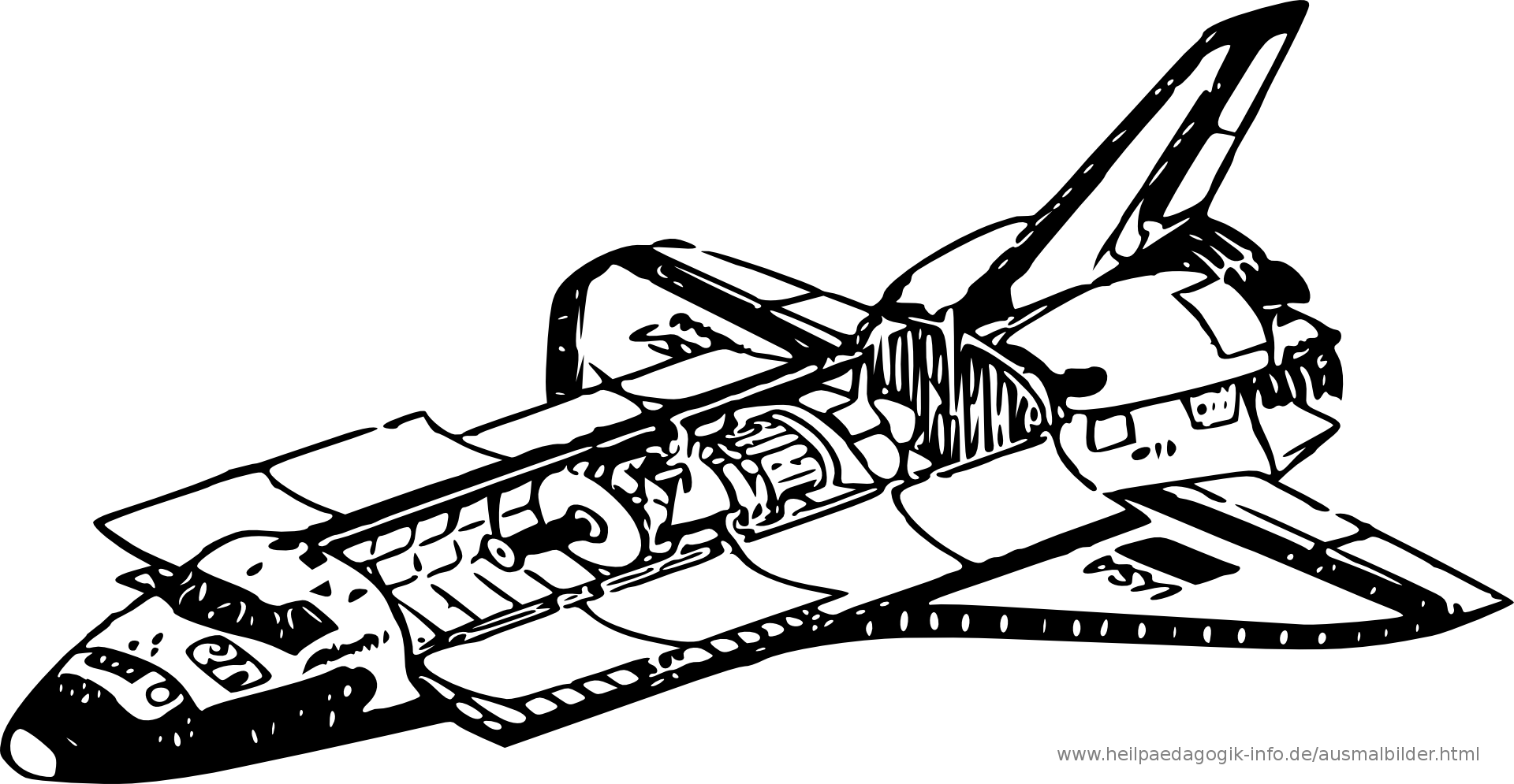 ausmalbild space shuttle  my blog