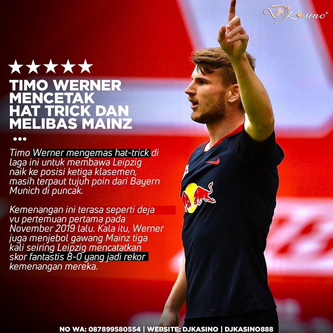 Timo Werner Mengemas Hat Trick Di 2020 Kasino Bayern Munich Leipzig