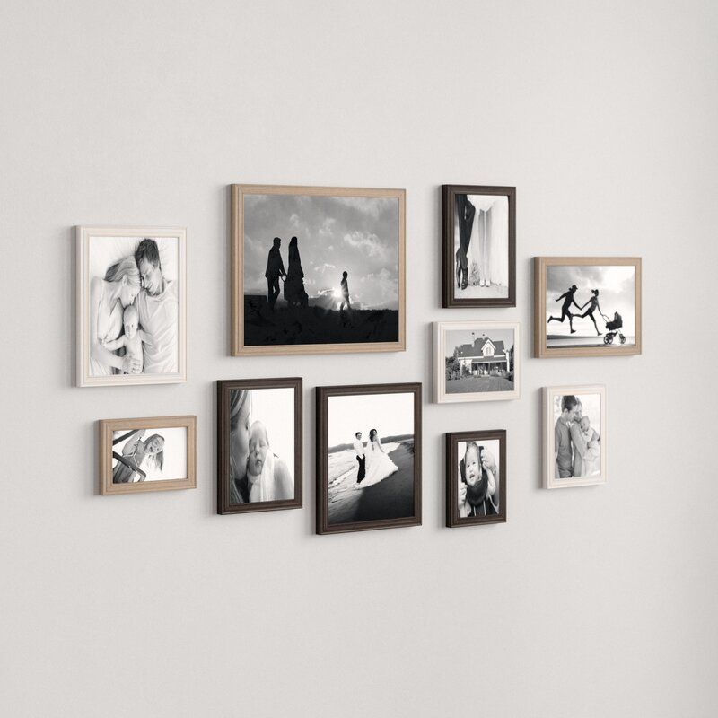 10 Piece Sturminster Gallery Picture Frame Set In 2020 Frame Wall Collage Picture Frame Gallery Picture Wall Living Room
