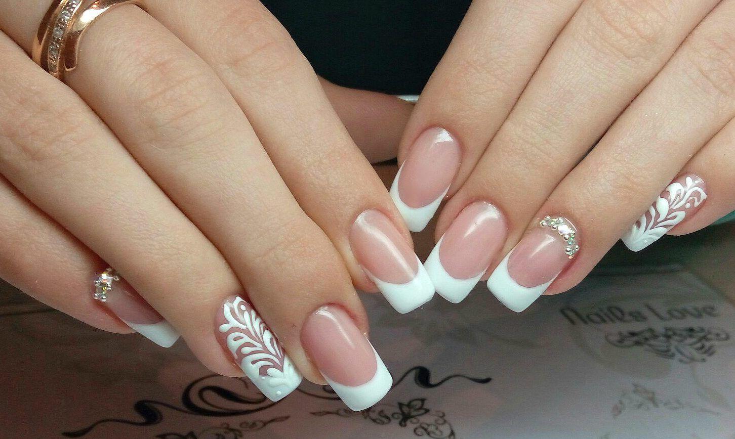 Image result for wedding nails | Nail design | Pinterest | White ...
