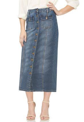 cf3540204 Cato Fashions Button Front Denim Skirt-Plus #CatoFashions - $27.99 ...
