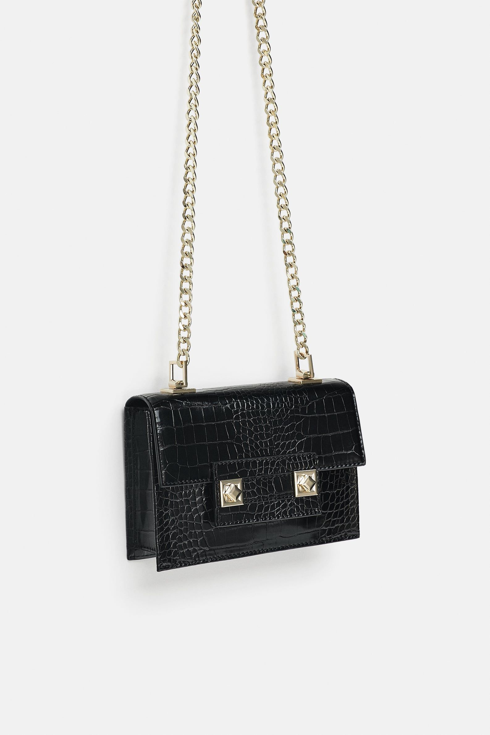 b3843b4a8a Image 1 of MINI CROSSBODY BAG WITH CLASP CLOSURE from Zara