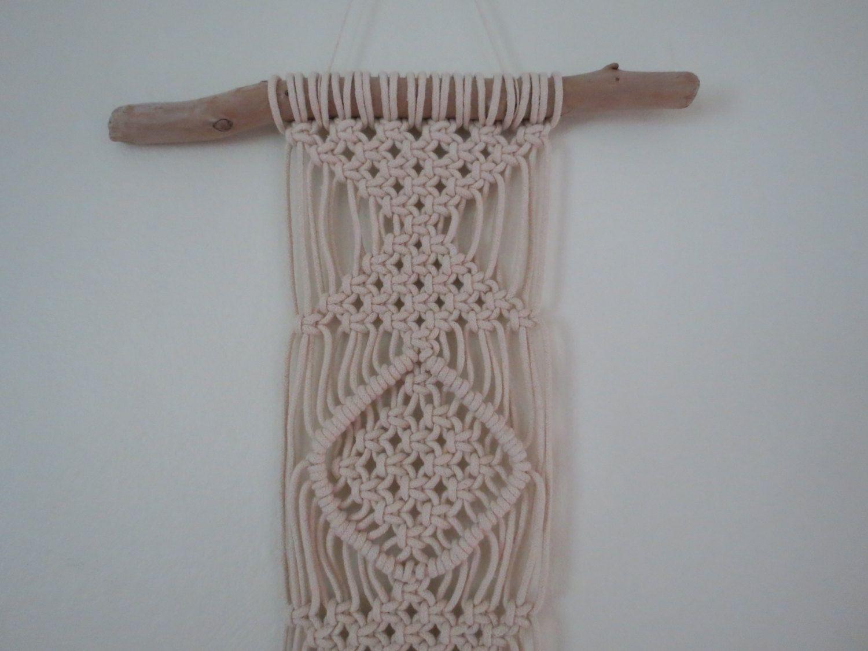 macrame wall hanging on driftwood 3mm cotton rope square knots macrame wall hanging on driftwood 3mm cotton rope square knots wall tapestry