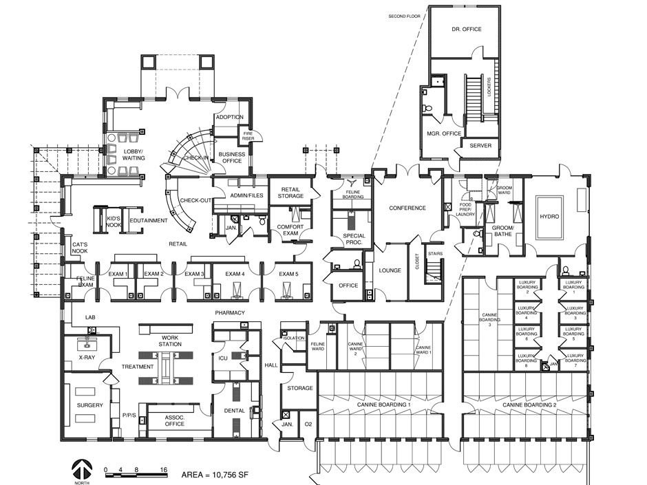 Veterinary Floor Plan Bit Spur Animal Hospital Animal Shelter Design Pet Clinic Hospital Design