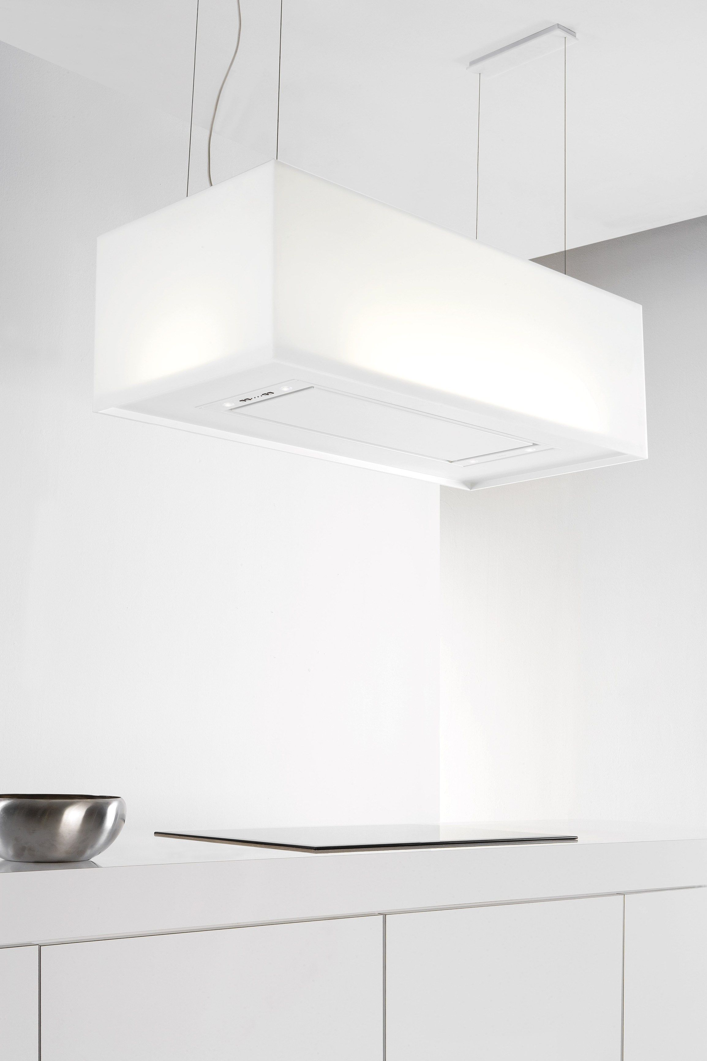 Exaustor de ilha em HI-MACS® com luzes integradas 7520 ZEN by NOVY ...
