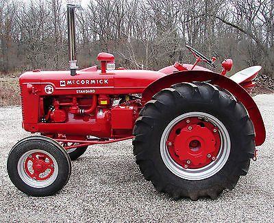 Vintage Antique 1953 Ih Mccormick Standard Super W 4 Tractor Fully Restored Traktor Landmaschinen Antike Traktoren