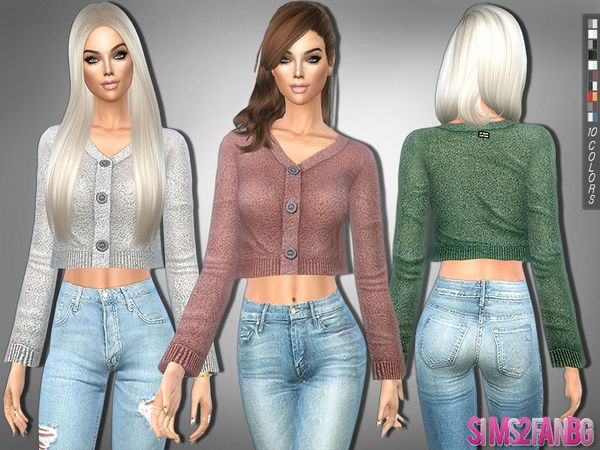 Clothing: 232 - Cropped Sweater by sims2fanbg from The Sims