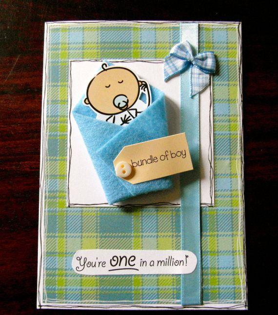 Card Making Ideas New Baby Boy Part - 22: Bundle Of Boy - New Baby Boy Card