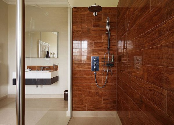Tile That Looks Like Wood In Shower