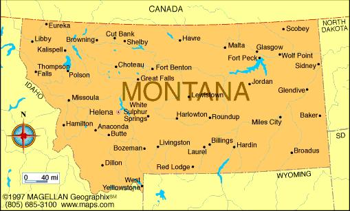 Montana On A Us Map Enthralling Montana Us Map Of Montana Usa Simple Montana Map Of