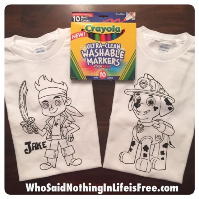 DIY Kids Coloring T-shirts - How to make adorable Tshirts using a ...