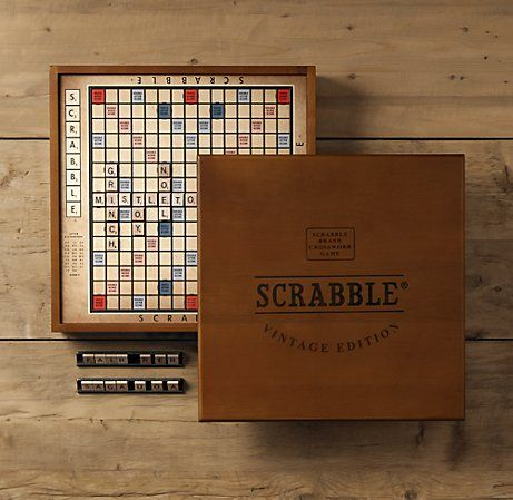 Vintage Edition Scrabble. swoon.