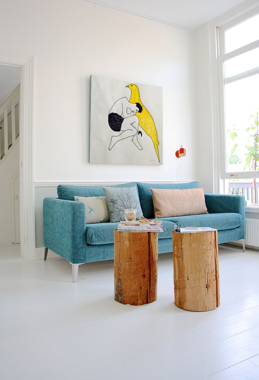 Homedesignideas Eu: Teal Living Room Decor With A Blue Sofa