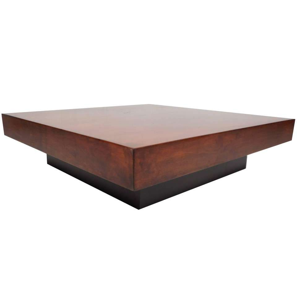 Large Mid Century Modern Square Burl Walnut Coffee Table Coffee Table Square Upholstered Coffee Tables Coffee Table [ 960 x 960 Pixel ]