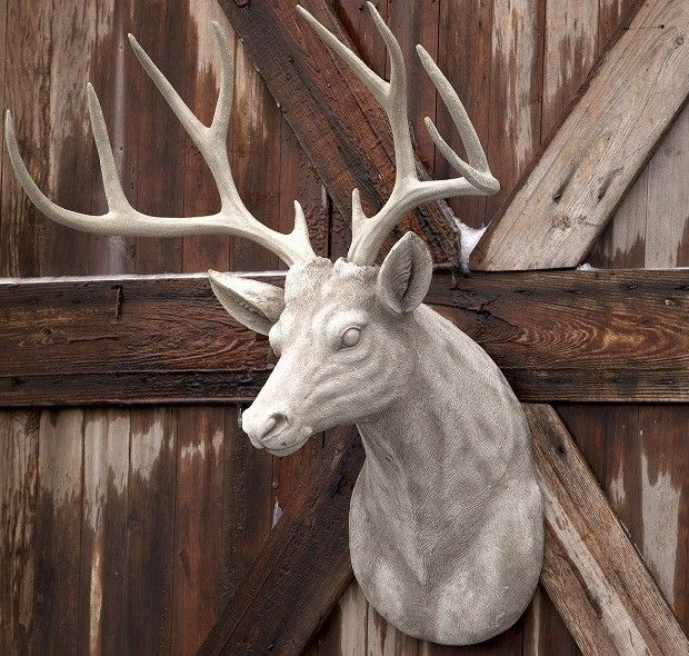 Our HUGE Estate Stone Deer Head Mount Is A Statement Maker. See More Deer  Head Decor At Antique Farmhouse.