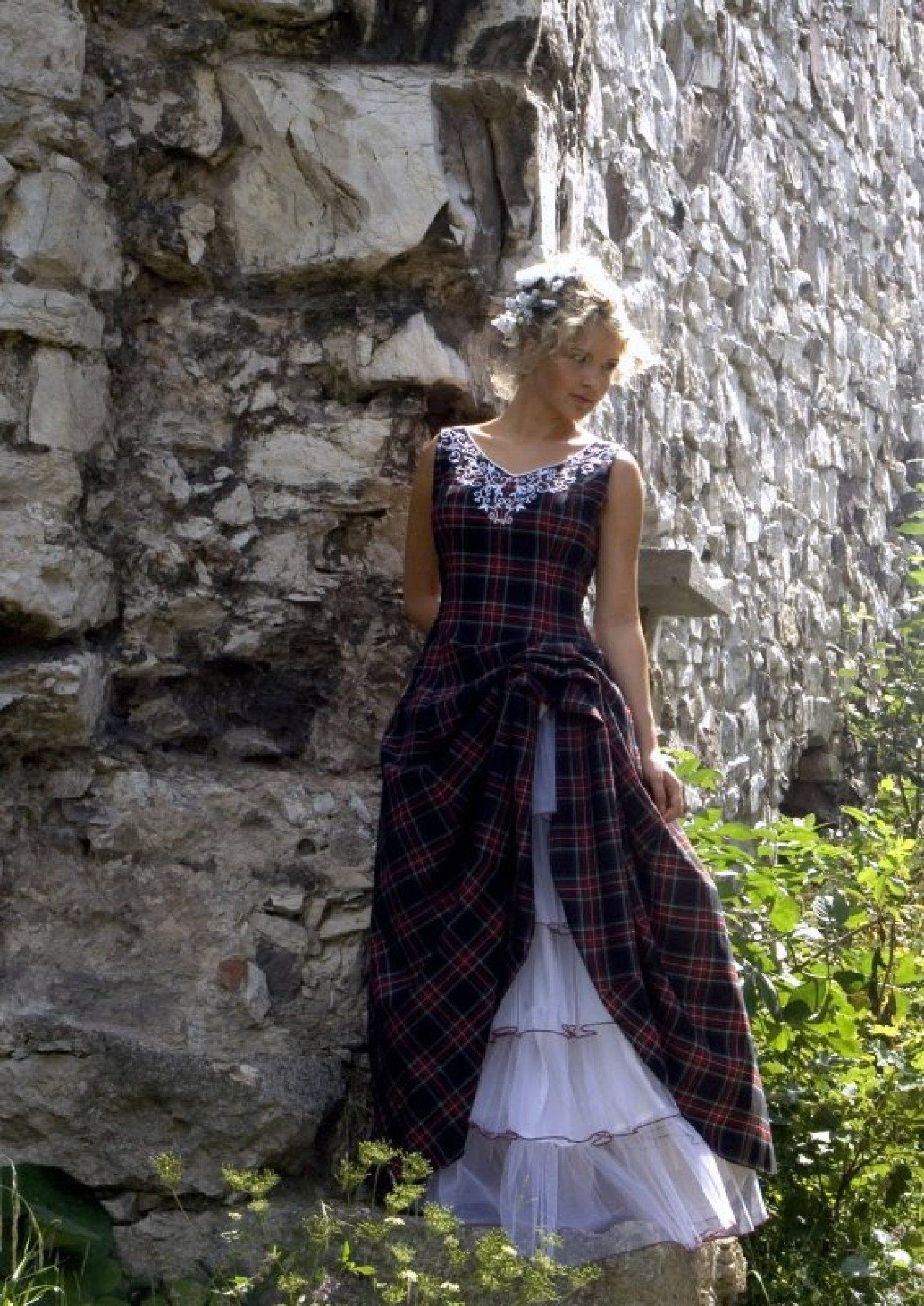 Scottish wedding dresses  Tartan wedding dress  Kilt Dreams  Pinterest  Plaid wedding