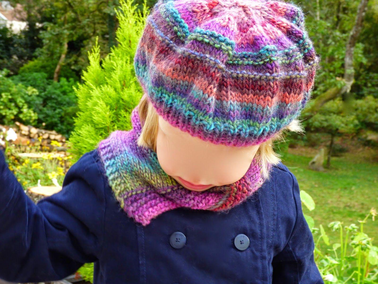 ca0508a38730 béret et col tricot - tuto gratuit en français, débutant, facile, enfant,  fille knit hat, knit snood, easy free tutorial, girl great