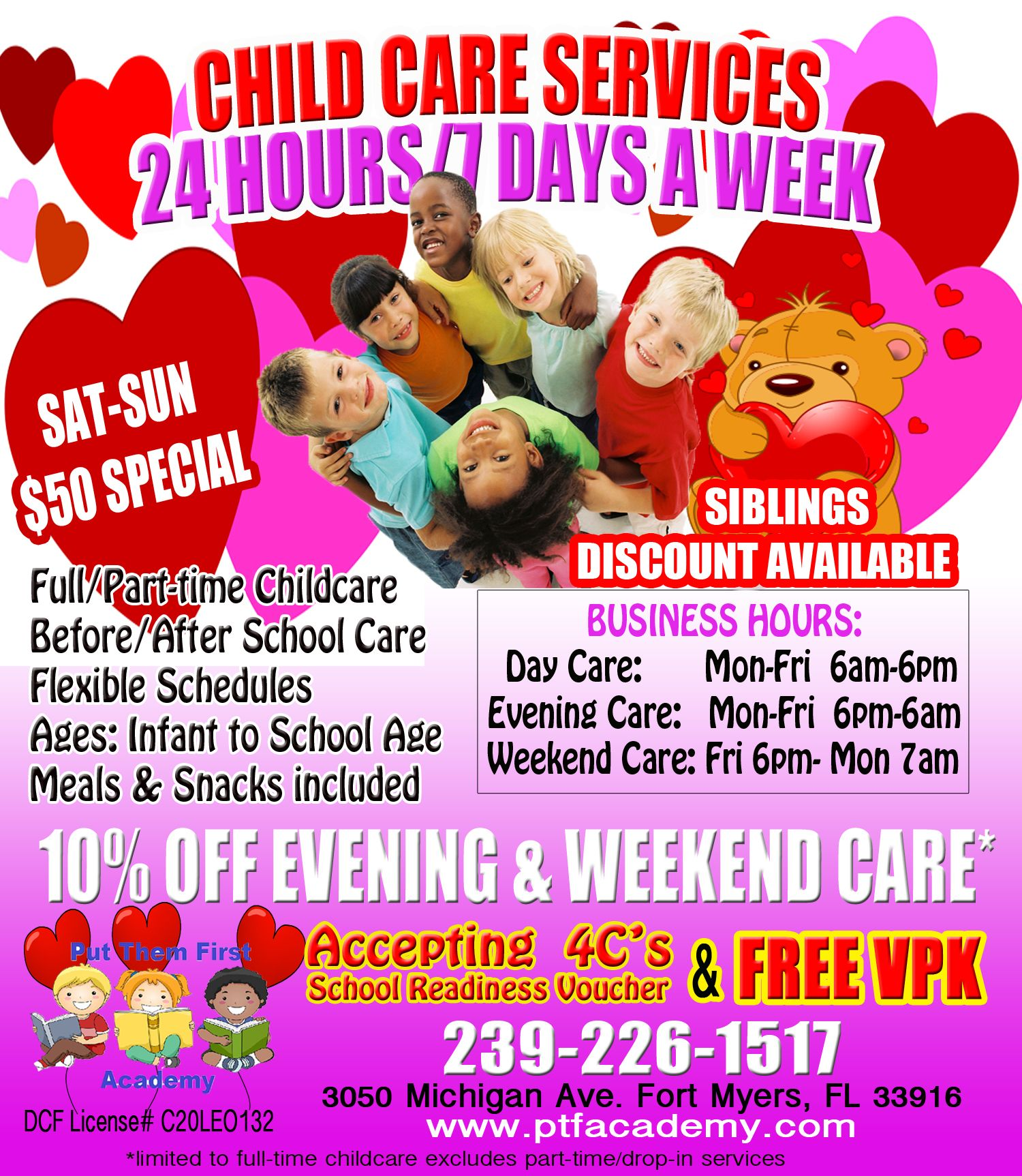 Creative Childcare Ads Childcare Child Care Services After School Care