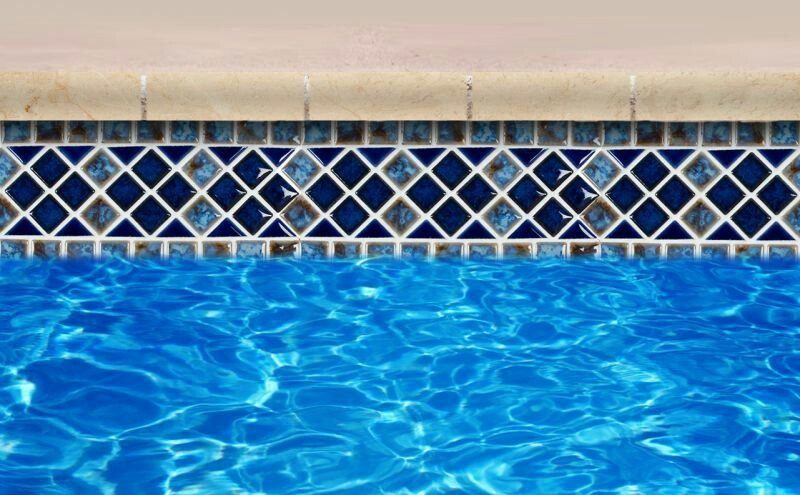 Waterline tile for the pool | Swimming pool fountains ...