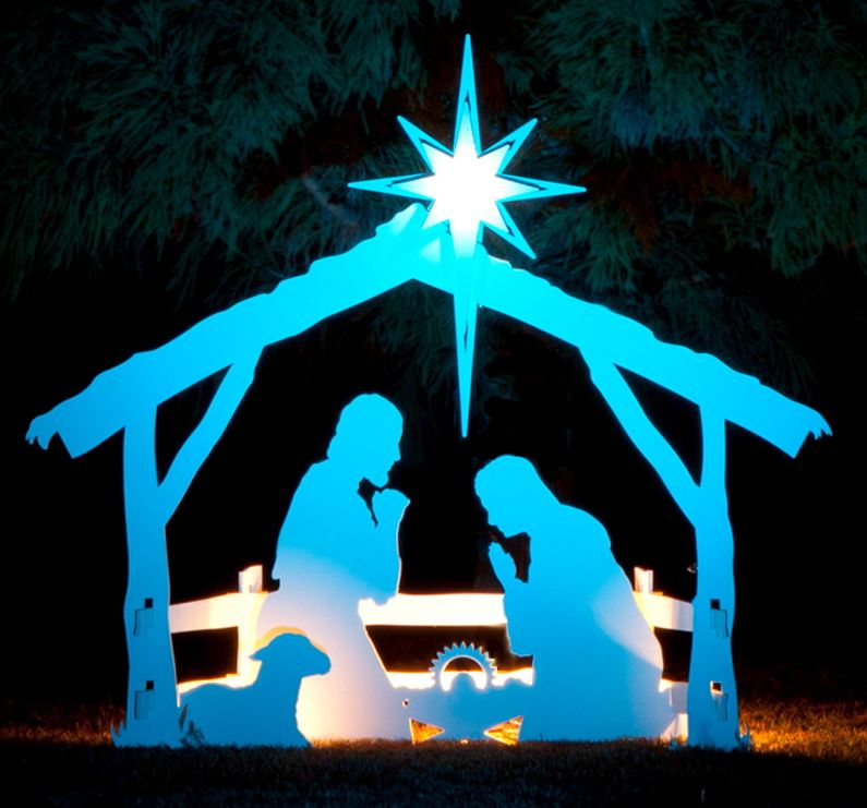Large Outdoor Nativity Sets Large White Outdoor Nativity
