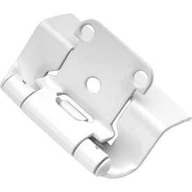 Hickory Hardware 2 Pack 2 1 4 In X 1 3 8 In White Concealed Self Closing Cabinet Hinge Hickory Hardware Overlay Hinges Self Closing Hinges