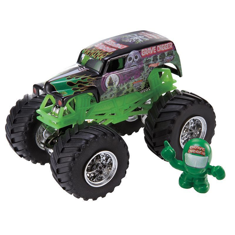 Hot Wheels Monster Jam 1:64 Grave Digger Truck (With ...